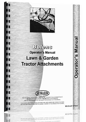 Bolens LGT Attachments (MOWERS, Cultivators, CARTS, DISKS, PLOWS) Operator's Manual