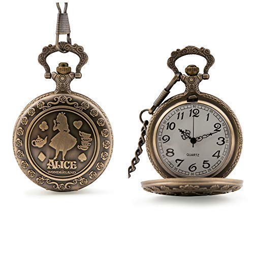 Alicia en el País de Las Maravillas Reloj de Bolsillo Cuarzo: Amazon.es: Relojes