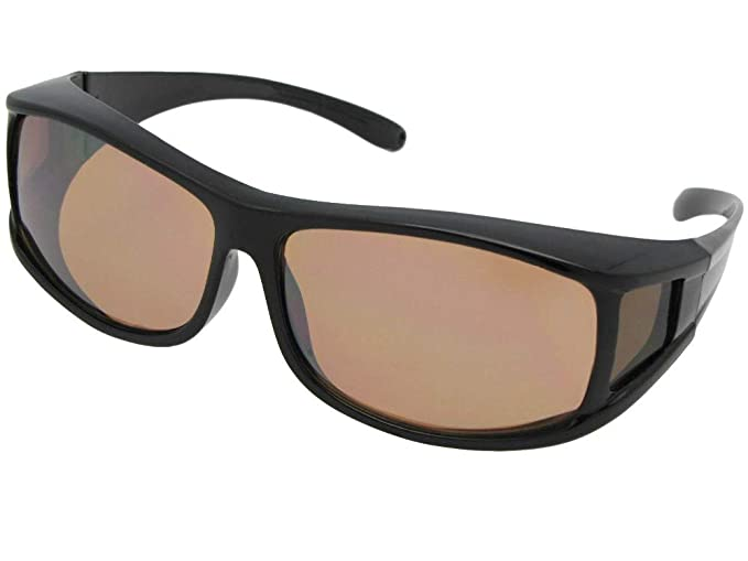 d97b32e6df3 Medium Non Polarized Wrap Around Fit Over Sunglasses Style F11 (Black Frame-Non  Polarized