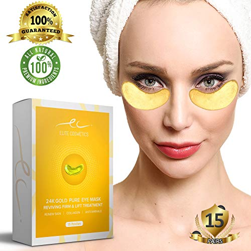 Under Eye Bags Treatment Patches   Collagen Eye Mask for Moisturizing   Reducing Dark Circles   Remove Eye Bags,Puffy Eyes, Smoothing Skin, Natural Lift  15 Pairs