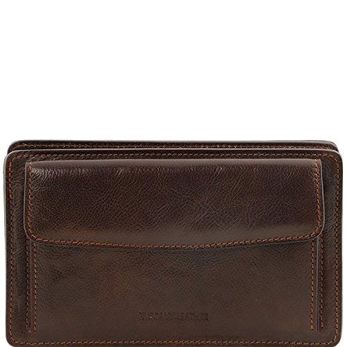 Tuscany Leather Denis - Elegante bolsillo de señor en piel - TL141445 (Miel) Marrón Oscuro