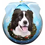 """Border Collie Christmas Ornament"" Shatter Proof Ball Easy To Personalize A Perfect Gift For Border Collie Lovers 3"