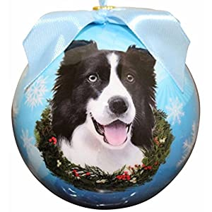 """""""Border Collie Christmas Ornament"""" Shatter Proof Ball Easy To Personalize A Perfect Gift For Border Collie Lovers 19"""