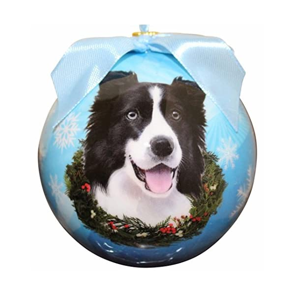 """Border Collie Christmas Ornament"" Shatter Proof Ball Easy To Personalize A Perfect Gift For Border Collie Lovers 1"