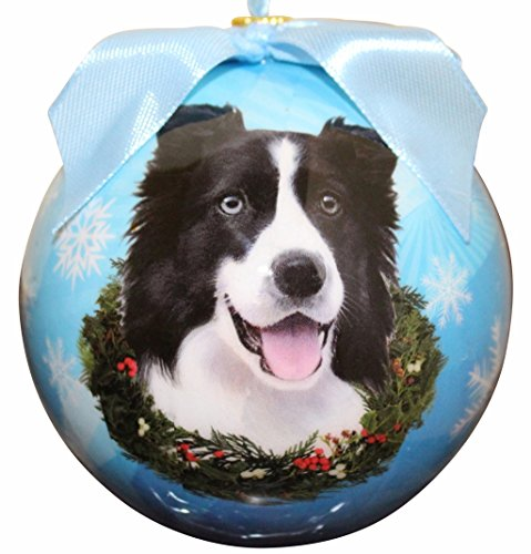 Border Collie Christmas Ornament Shatter Proof Ball Easy To Personalize A Perfect Gift For Border Collie Lovers