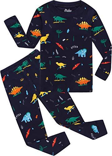 Dinosaur Pajamas for Boys Christmas Children Pjs Cotton Sleepwear Set Toddler Kids Clothes 2t -