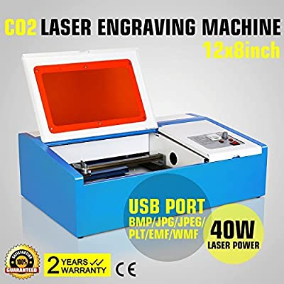 Eteyo 40w Laser Engraver Machine with Usb Co2 Laser Cutting Engraving Parallel Port Support 3020 New