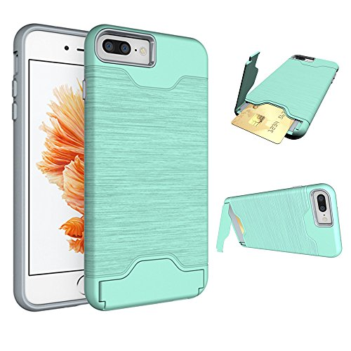 - Se7enline iPhone 8 Plus Wallet case, iPhone 7 Plus Case, Matte Scratch Protection with Dual Layer Colorful Hard Case for iPhone 7/8 Plus 2016/2017/2018 with Card Holder & Kickstand Mint Green