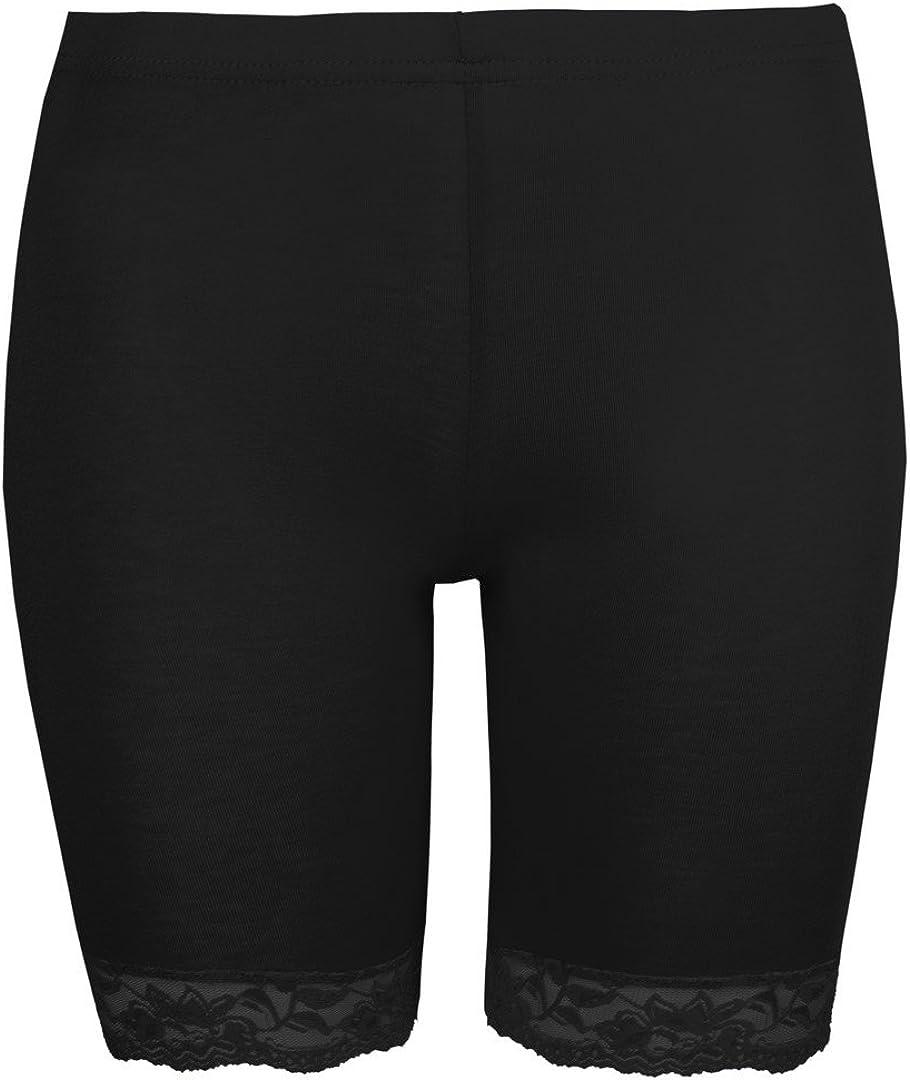 leggings aderenti Love Lola/® Pantaloncini da ciclismo da donna colore: nero con pizzo