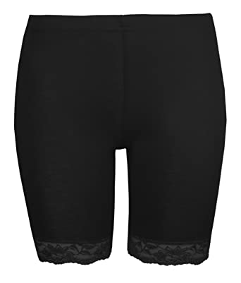 Love Lola Womens Cycling Shorts Ladies Lace Trim Cycle Shorts Exclusively  By Stretch Black Leggings  Amazon.co.uk  Clothing b9ad62dbe