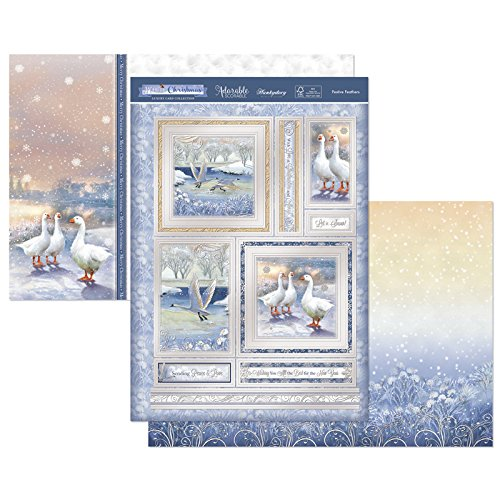 Festive Feathers Topper Set Hunkydory Crafts White Christmas