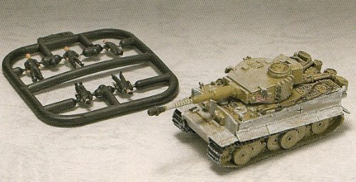 Takara World Tank - 1/144 World Tank Museum Series 05 secret items Tiger I initial type heavy tank Michael Wittmann SS Lieutenant boarding S04 car (Wittmann, Tiger Special marking)