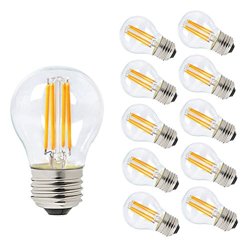 Century Light G45 E26 4W Mini Led Filmanet Light Bulb  Dimmable  2700K Soft Warm White  40W Incandescent Replacement 10 Pack