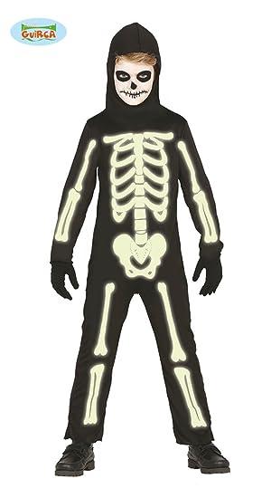 Disfraz de Esqueleto brillante para niños