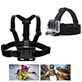 PANNOVO Head Strap Chest strap Mount Accessories Kits for GoPro Hero Session 5 4 3+ 3