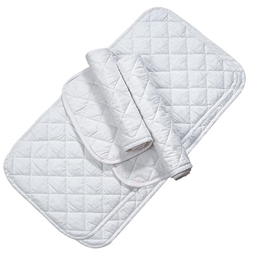 Imported Horse & Supply Quilted Leg Wrap White 12 in. 4 Pack ()
