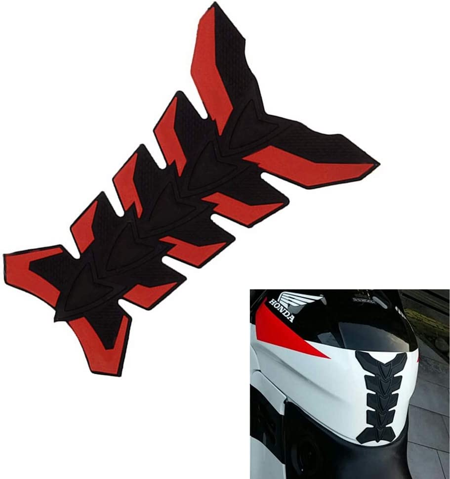Gas Tank Pad Traction Side Fuel Knee Grip Decal Red//Black for Motorcross ATV Dirt Bike Universal