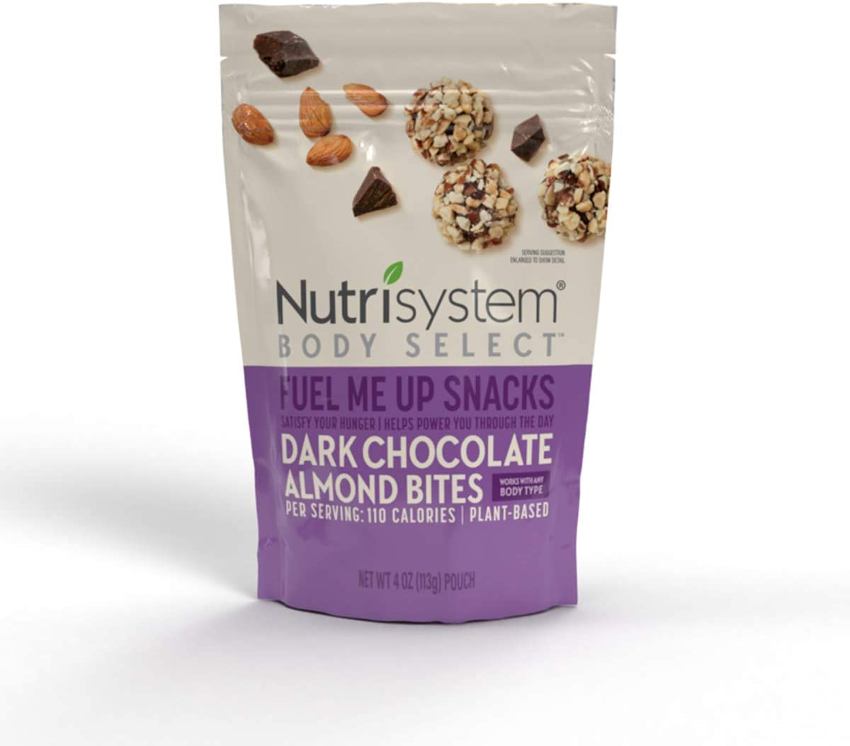 Nutrisystem® Body Select™ Fuel Me Up Snacks: Dark Chocolate Almond Bites, 6ct, Delicious Plant-Based Snacks That Satisfy Midday Hunger
