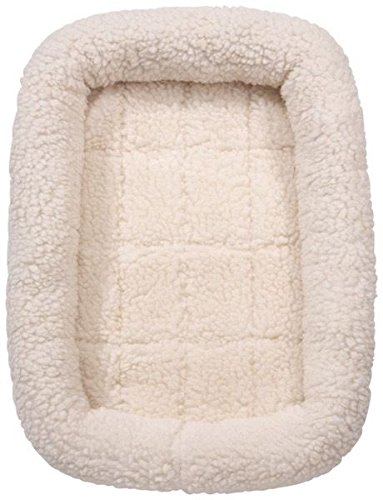 s Soft Plush Comfortable Bed For Dogs Choose Size and Color(Large Crate Bed - Natural) ()