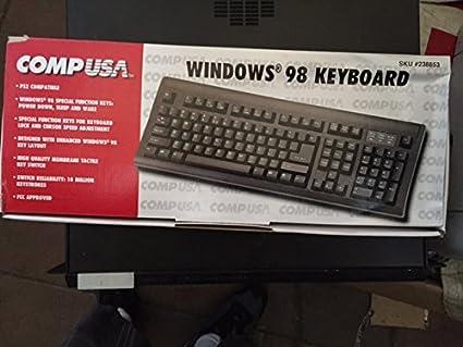 Amazon com: CompUSA Windows 98 Black Keyboard - PS/2