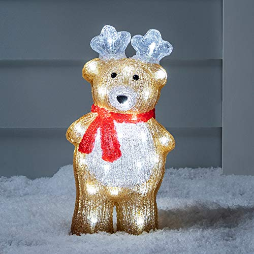 Lights4fun, Inc. Reindeer Christmas Light Decoration with 40 LEDs for Indoor & Outdoor Use ()