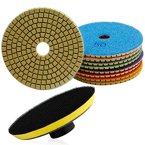 Best Concrete Buffing Pads - TONGTU Diamond Polishing Pads - 4
