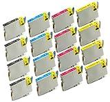 16 Pack Remanufactured Inkjet Cartr