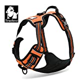 TrueLove Dog Harness TLH5651 No-pull Reflective Stitching Ensure Night Visibility, Outdoor Adventure Big Dog Harness Perfect Match Puppy Vest (Orange,S)