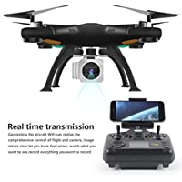 Quadcopter Drone, Sacow 6-Axis Gyro 2.4G 4CH Real-time Images Return RC Wifi FPV Quadcopter Gimbal Camera Drone with HD Camera UAV