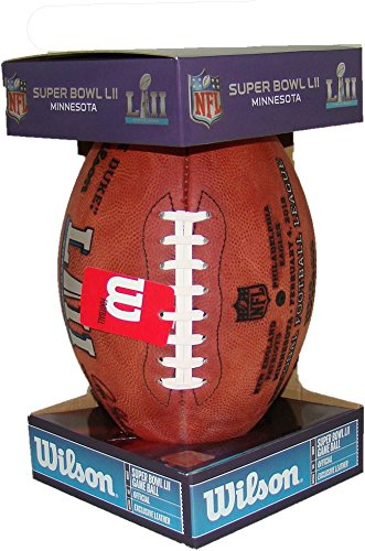 (NFL Super Bowl 52 Authentic Official Game Football (Boxed) with Eagles & Patriots Names Inscribed on Ball)
