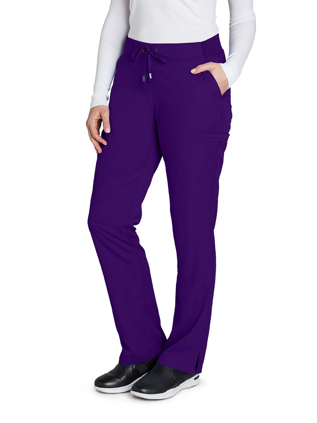 Grey's Anatomy 4277 Women's 6 Pocket Tie Front Scrub Pant Vivid Violet XXS