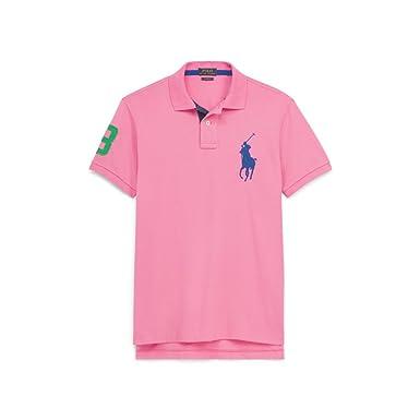 Rose Coupe Cintrée Lauren Ralph Pink Pony Chroma Polo Big NOv0wm8n