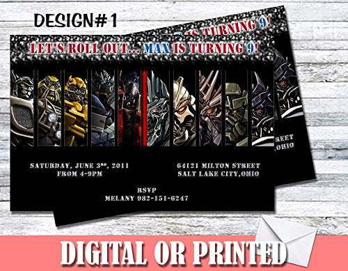 Transformers Personalized Birthday Invitations More Designs Inside