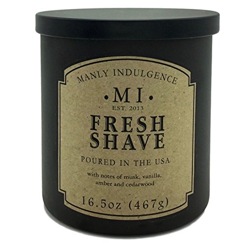 Manly Indulgence Fresh Shave Candle With Notes of Musk, Vanilla, Amber and Cedarwood