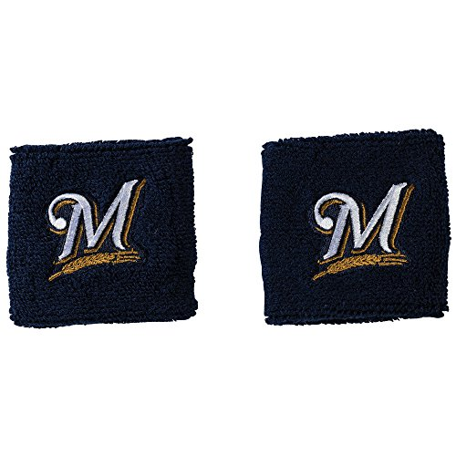 Franklin Sports MLB Milwaukee Brewers Team Wristbands