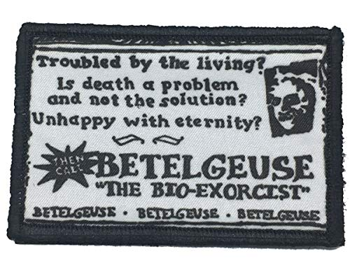 Beetlejuice Business Card Morale Patch Funny Tactical Military. 2x3