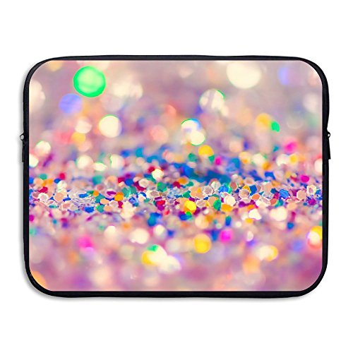 Business Briefcase Laptop Sleeve Abstract Colorful Glitter Case Cover For  15 Inch Macbook Air/Asus/Dell/Lenovo/Hp/Samsung