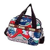 Women's Mini Nylon Floral Top Handle Tote Handbags Water Resistant Multi Pocket Zipper Shoulder Bag Crossbody Bags (Style_10)