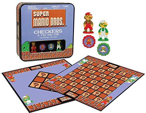 Super Mario Bros Checkers & Tic-Tac-Toe Collectors Edition Board Game