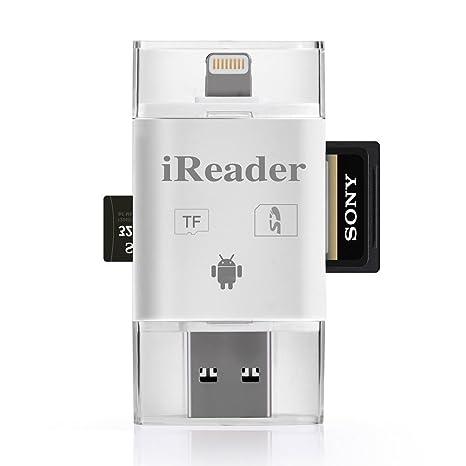 anatek lector de tarjetas de memoria con conector Lightning ...