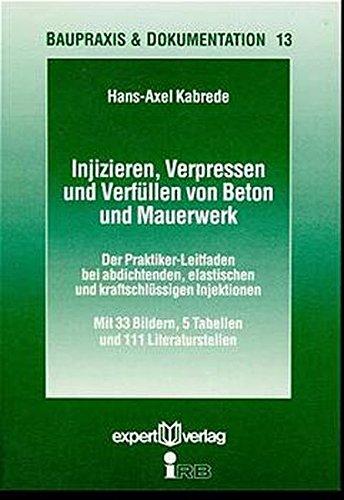 Injizieren, Verpressen und Verfüllen von Beton und Mauerwerk: Der Praktiker-Leitfaden bei abdichtenden, elastischen und kraftschlüssigen Injektionen (Baupraxis + Dokumentation)