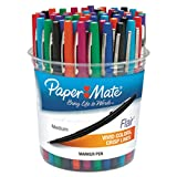 Paper Mate 4651 Point Guard Flair Assorted Ink with Assorted Barrel Color 1.4mm Bullet Point Stick Pen - 48/Set