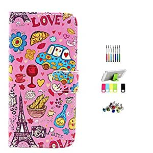 QYF Cartoon Pattern Full Body Case with Stylus ,Anti-Dust Plug and Stand for iPhone 6 Plus