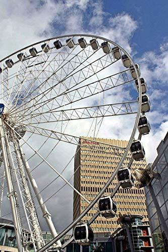 (Home Comforts Canvas Print Folk Festival Manchester Fair Ferris Wheel England Vivid Imagery Stretched Canvas 32 x 24)