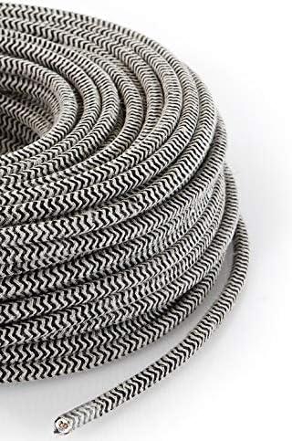 Section 3/x 0.75 C/âble /électrique rond//rond avec rev/êtement en tissu Couleur sable//noir