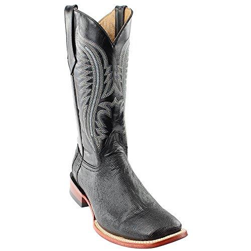 Toe Men's Belly Boot Black Ferrini Lizard Square 1369304 vTRqR
