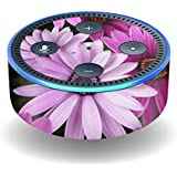 MightySkins Skin For Amazon Echo Dot (2nd Gen) - Purple Flowers | Protective, Durable, and Unique Vinyl Decal wrap cover | Easy To Apply, Remove, and Change Styles | Made in the USA