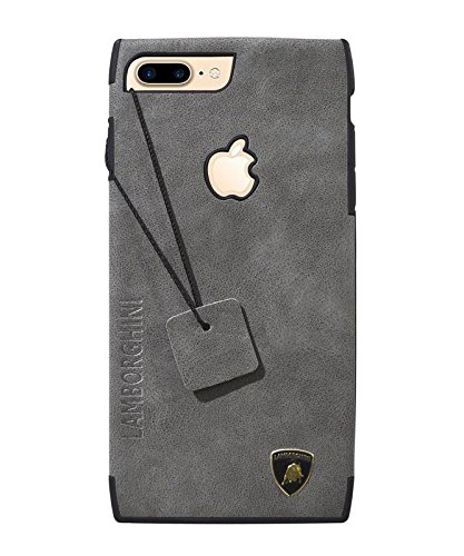 COVERBLACK Leather Back Cover for Apple iPhone 8 Plus Grey