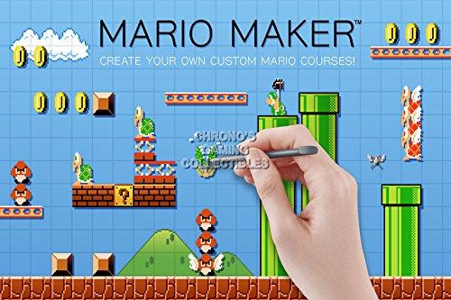 CGC Huge Poster - Super Mario Maker - Nintendo Wii U - SMM001 (24' x 36' (61cm x 91.5cm))