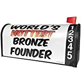 NEONBLOND Worlds hottest Bronze Founder Magnetic Mailbox Cover Custom Numbers